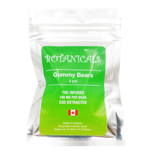 Oursons gommeux 100mg THC (400mg au total)