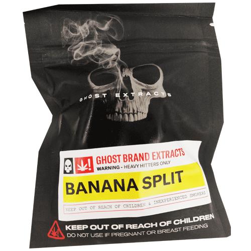 Banana Split live resin packaging