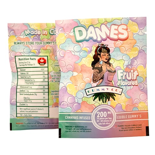 200mg THC Fruit Gummies by Dames