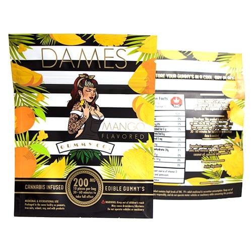 200mg THC Mango Gummies by Dames