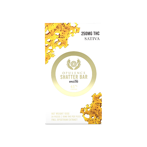 buy 500mg THC Sativa Milk Chocolate Shatter Bar online Canada