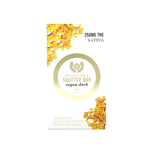 buy 250mg THC Dark Chocolate Shatter Bar online Canada