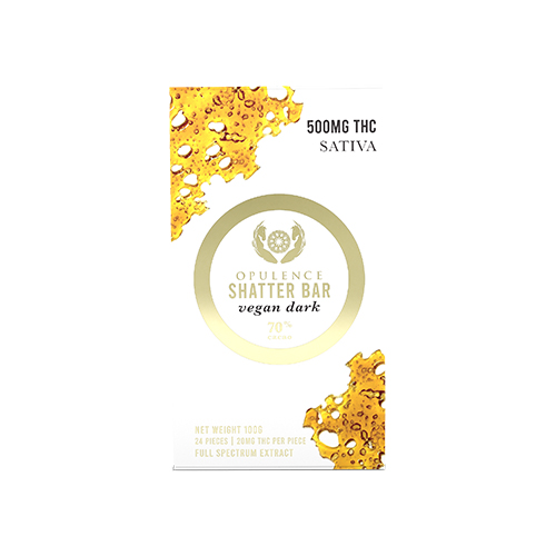 buy 500mg THC Sativa Dark Chocolate Shatter Bar online Canada